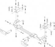 Roadmaster Mounting Bracket EZ Lock 4   NT14-0649  - Base Plates