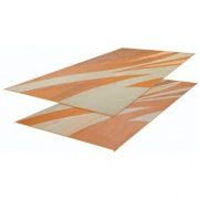 Faulkner Patio Mat Summer Waves 8X16 Tan Gold   NT01-0070  - Camping and Lifestyle