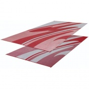 Faulkner Patio Mat Mirage 8X16 Burgundy   NT01-0072  - Camping and Lifestyle