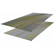 Faulkner Patio Mat Mirage 8X20 Silver Gold   NT01-0073  - Camping and Lifestyle