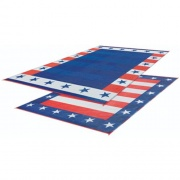 Faulkner Patio Mat Independence Day 9X12   NT01-0075  - Camping and Lifestyle