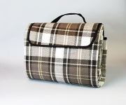Carefree Blanket Blue Plaid 6.5' X5.5'   NT01-0303  - Camping and Lifestyle