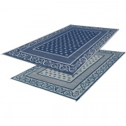 Faulkner Patio Mat Vineyard 8X20 Blue   NT01-0308  - Camping and Lifestyle