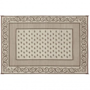 Faulkner Patio Mat Vineyard 8X16 Beige   NT01-0639  - Camping and Lifestyle - RV Part Shop USA