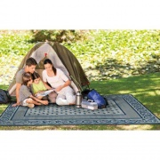 Faulkner Patio Mat Vineyard 6X9 Blue   NT01-0686  - Camping and Lifestyle