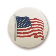 Adco Products Designer Tire Cover: Flag Size J   NT01-1850  - Tire Covers