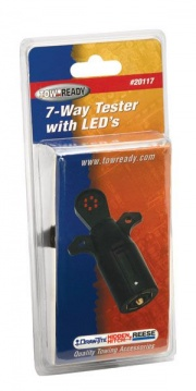 Tow Ready 7-Way Flat Pin Car End Tester w/LED Display   NT02-0039  - Towing Electrical