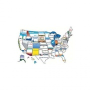 State Stickers 50 State Sticker Map   NT03-0127  - Games Toys & Books - RV Part Shop USA