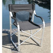 Faulkner Directors Chair Aluminum Black   NT03-0487  - Camping and Lifestyle