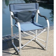 Faulkner Directors Chair Aluminum Blue   NT03-0488  - Camping and Lifestyle