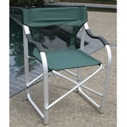 Faulkner Directors Chair Aluminum Green   NT03-0622  - Camping and Lifestyle