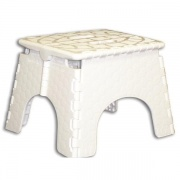 B&R Plastics EZ Foldz Step Stool White   NT03-0965  - Step and Foot Stools