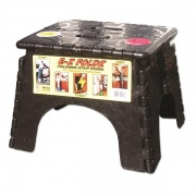 B&R Plastics EZ-Foldz Step Stool Black   NT03-0971  - Step and Foot Stools