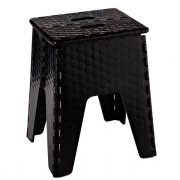 "B&R Plastics Neat Seat 15\"" Black   NT03-1217  - Step and Foot Stools"