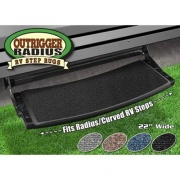 Prest-O-Fit Outrigger Radius RV Step Rug Black   NT04-0346  - RV Steps and Ladders - RV Part Shop USA