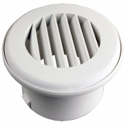 "JR Products Heat Vent 4\"" No Damper Polar White   NT08-0180  - Furnaces - RV Part Shop USA"