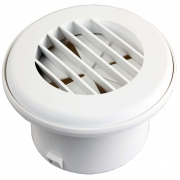 "JR Products Heat Vent 4\"" Dampered Polar White   NT08-0185  - Furnaces - RV Part Shop USA"