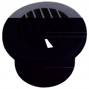 "JR Products Heat Vent 4\"" Dampered Black   NT08-0186  - Furnaces"