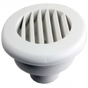 "JR Products Heat Vent 2\"" No Damper Polar White   NT08-0190  - Furnaces - RV Part Shop USA"
