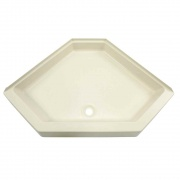 """Lippert Parchment 34X34 Neo Hex Showe Pan 5\\"""" Apron   NT10-5721  - Tubs and Showers"""
