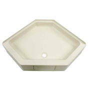 """Lippert Parchment 34X34 Neo Hex Shower Pan 9.5\\"""" Apron  NT10-5722  - Tubs and Showers"""