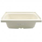 Lippert Parchment 24X36 Center Drain Bathtub   NT10-5729  - Tubs and Showers