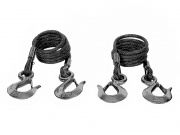 Blue Ox Safety Cable Kit 10 000 Lb. 7' L   NT14-5236  - Tow Bar Accessories