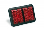 Bargman Taillight Red & Red LED w/Black Base   NT18-0141  - Towing Electrical