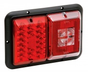 Bargman Taillight Horizontal Mount Red LED Black Base   NT18-0142  - Towing Electrical