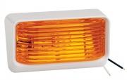 Bargman Porch Light 78 Amber w/Ash White 5 Base   NT18-1005  - Lighting