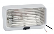Bargman Porch Light 78 Clear w/Ash White 5 Base & Switch   NT18-1006  - Lighting