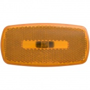 Optronics Clearance/Marker Light Oval RV Black Bs Amber   NT18-1824  - Towing Electrical - RV Part Shop USA