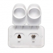 JR Products Phone Cable Plate   NT19-0187  - Televisions