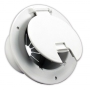 JR Products Delux Round Electric Cable Hatch Polar White   NT19-0188  - Power Cords - RV Part Shop USA