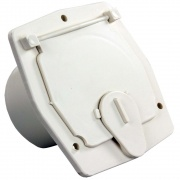 JR Products Economy Square Cable Hatch Colonial White   NT19-0195  - Power Cords - RV Part Shop USA