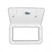 JR Products Utility Center Key Lock Polar White   NT19-0239  - RV Storage