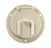 RV Designer Low Profile Hatch Round Colonial White   NT19-1506  - Hardware - RV Part Shop USA
