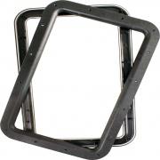 JR Products Deluxe Door Window Frame Black   NT20-1227  - Windows - RV Part Shop USA