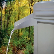 JR Products Extended Rain Gutter Spout Rigid   NT20-1258  - Hardware