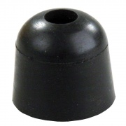 "JR Products 1\"" Rubber Bumper Black   NT20-2035  - Doors"