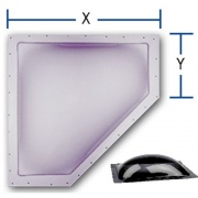 "Specialty Recreation Neo-Angle Skylight Smoke 20\""x8\\"" (24\\""x11\\"" Flange)  NT22-0074  - Skylights"