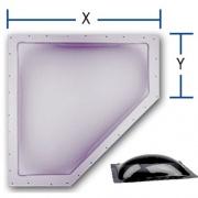 "Specialty Recreation Neo-Angle Skylight Smoke 30\\""x13\\"" (34\\""x16\\"" Flange)  NT22-0696  - Skylights"
