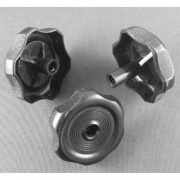 Strybuc Black Plastic Knob Handle 743CE Black  NT23-0548  - Hardware