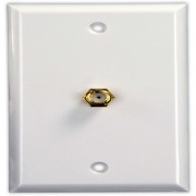 JR Products Interior Cable TV Plate Polar White   NT24-0596  - Televisions - RV Part Shop USA