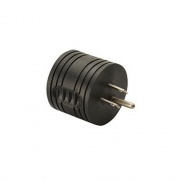 Technology Research Round Adapter 15A Male - 30A Female Black   NT69-7633  - Power Cords