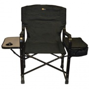 Faulkner El Capitan Directors Chair Chrome Black   NT03-0313  - Camping and Lifestyle