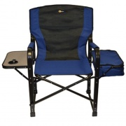 Faulkner El Capitan Directors Chair Chrome Blue/Black   NT03-0318  - Camping and Lifestyle - RV Part Shop USA