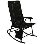Faulkner Dakota Folding Rocking Chair Black/Black   NT03-0332  - Camping and Lifestyle