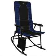 Faulkner Dakota Folding Rocking Chair Blue/Black   NT03-0334  - Camping and Lifestyle