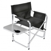 Faulkner Directors Chair Black w/Tray   NT03-0475  - Camping and Lifestyle